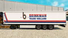 Skin Brinkman on a curtain semi-trailer for Euro Truck Simulator 2
