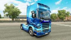 Light Blue skin for the truck Scania for Euro Truck Simulator 2