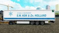Skin E. W. Kok & Zn in Holland curtain semi-trai