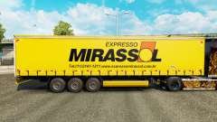 Skin Mirassol Logistic on a curtain semi-trailer