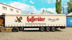 Skin Halleroder on a curtain semi-trailer for Euro Truck Simulator 2