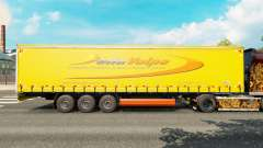 Skin DellaVolpe on a curtain semi-trailer for Euro Truck Simulator 2