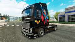 Superman skin for Volvo truck for Euro Truck Simulator 2
