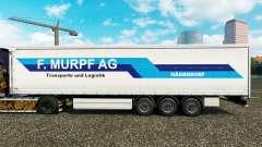 Skin F. Murpf AG on a curtain semi-trailer for Euro Truck Simulator 2
