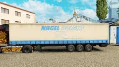 The skin on Nagel Polska curtain semi-trailer