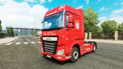 The FC Bayern Munich skin for DAF truck for Euro Truck Simulator 2