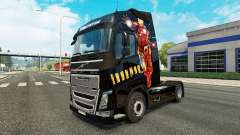 Iron Man skin for Volvo truck for Euro Truck Simulator 2