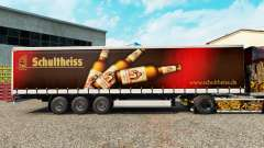 Skin Schultheiss on a curtain semi-trailer