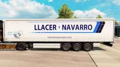 Skin Llacer y Navarro on a curtain semi-trailer