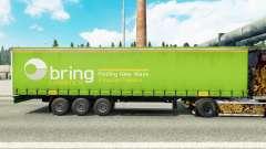 Skin of Bring Logistics on a curtain semi-traile