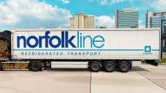 Skin Norfolkline curtain semi-trailer for Euro Truck Simulator 2