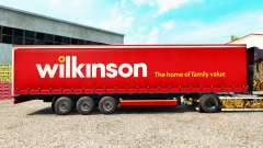 Skin Wilkinson on a curtain semi-trailer for Euro Truck Simulator 2