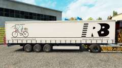 Reed Boardall skin on the trailer curtain for Euro Truck Simulator 2