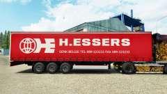 H. Essers skin for curtain semi-trailer