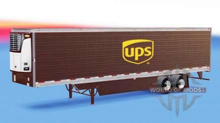 Skin UPS on refrigerated semi-trailer for American Truck Simulator