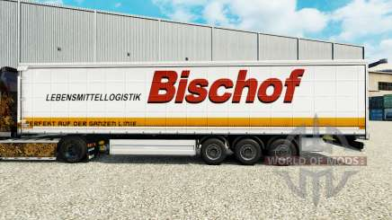 Skin Bischof on a curtain semi-trailer for Euro Truck Simulator 2