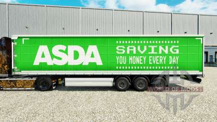 Skin ASDA on a curtain semi-trailer for Euro Truck Simulator 2