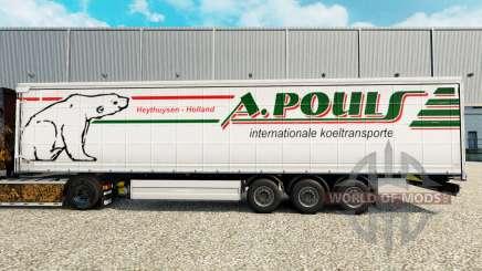 Skin A. Pouls on a curtain semi-trailer for Euro Truck Simulator 2
