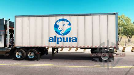 Skin Alpura the metal trailer for American Truck Simulator