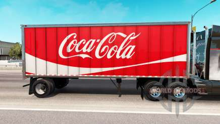 Skin Coca-Cola metal semi-trailer for American Truck Simulator