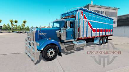 The body of van type for Kenworth W900 for American Truck Simulator