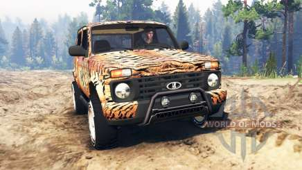 VAZ-21214 (Lada 4x4 Urban) tiger for Spin Tires