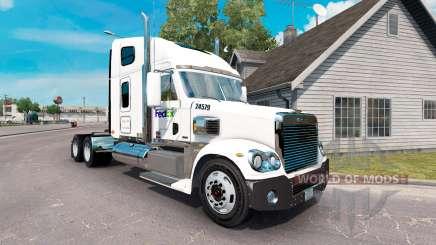 The skin on the FedEx truck Freightliner Coronado for American Truck Simulator