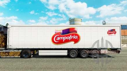 Skin Campofrio on a curtain semi-trailer for Euro Truck Simulator 2