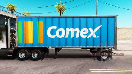 Skin Comex in an all-metal trailer for American Truck Simulator