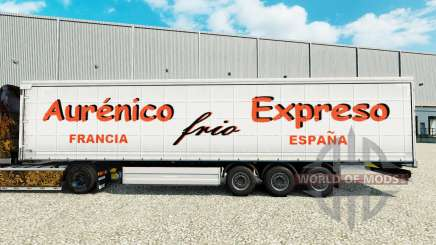 Skin Aurenico frio Expreso on a curtain semi-trailer for Euro Truck Simulator 2