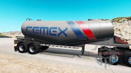 Skin Cemex to semi-tank for cement for American Truck Simulator