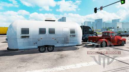Airstream trailer in traffic for American Truck Simulator