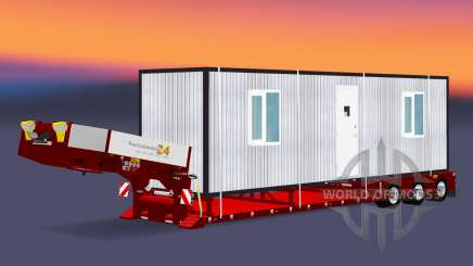 Low bed trawl Doll Vario with cargo cabins for Euro Truck Simulator 2