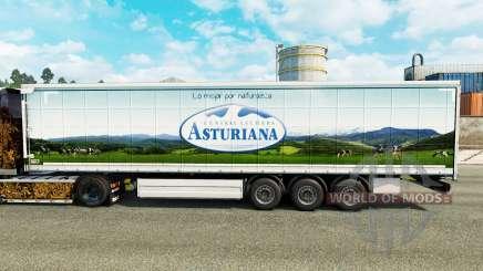Skin Asturiana on a curtain semi-trailer for Euro Truck Simulator 2