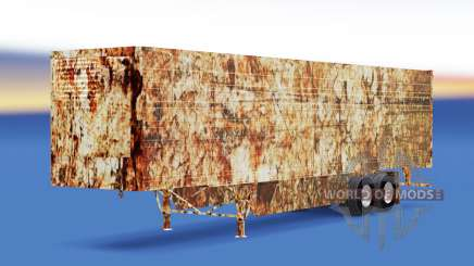 Skin Rusty on refrigerated semi-trailer for American Truck Simulator