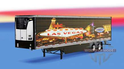 Skin Las Vegas for reefer semi-trailer for American Truck Simulator