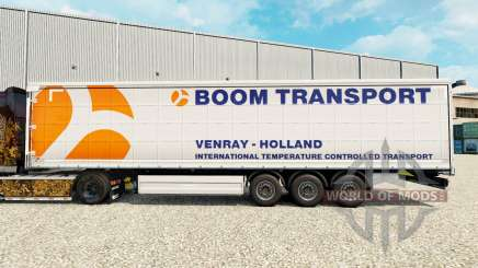 Skin Boom Transport on semi-trailer curtain for Euro Truck Simulator 2