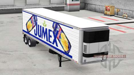 Jumex skin on the reefer trailer for American Truck Simulator