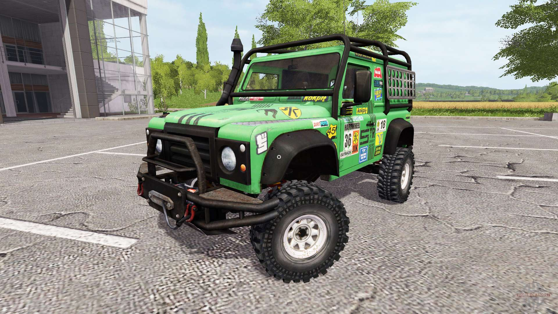 land rover defender 90 dakar v2 0 for farming simulator 2017. Black Bedroom Furniture Sets. Home Design Ideas