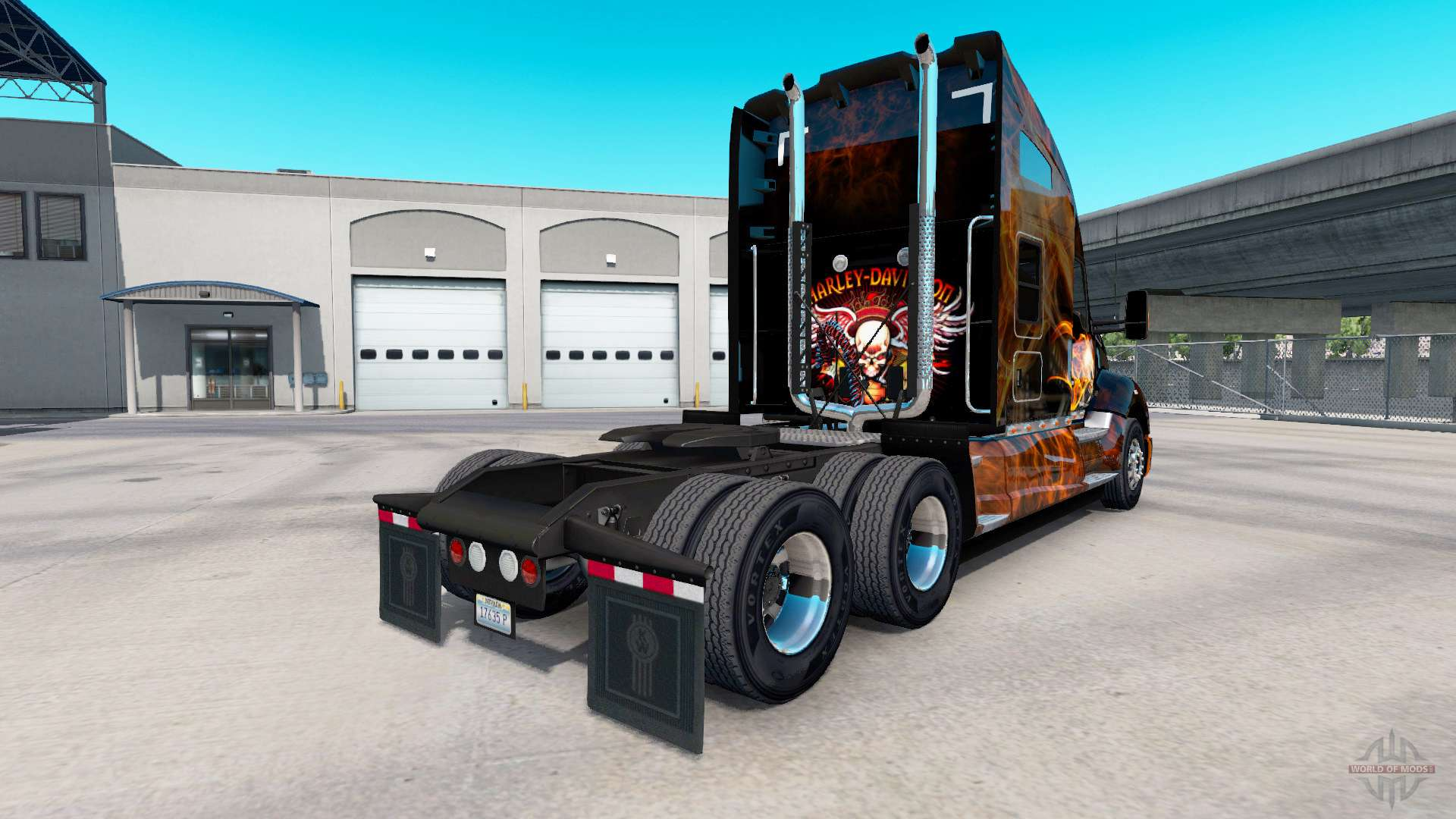 skin harley davidson truck on kenworth t680 for american. Black Bedroom Furniture Sets. Home Design Ideas