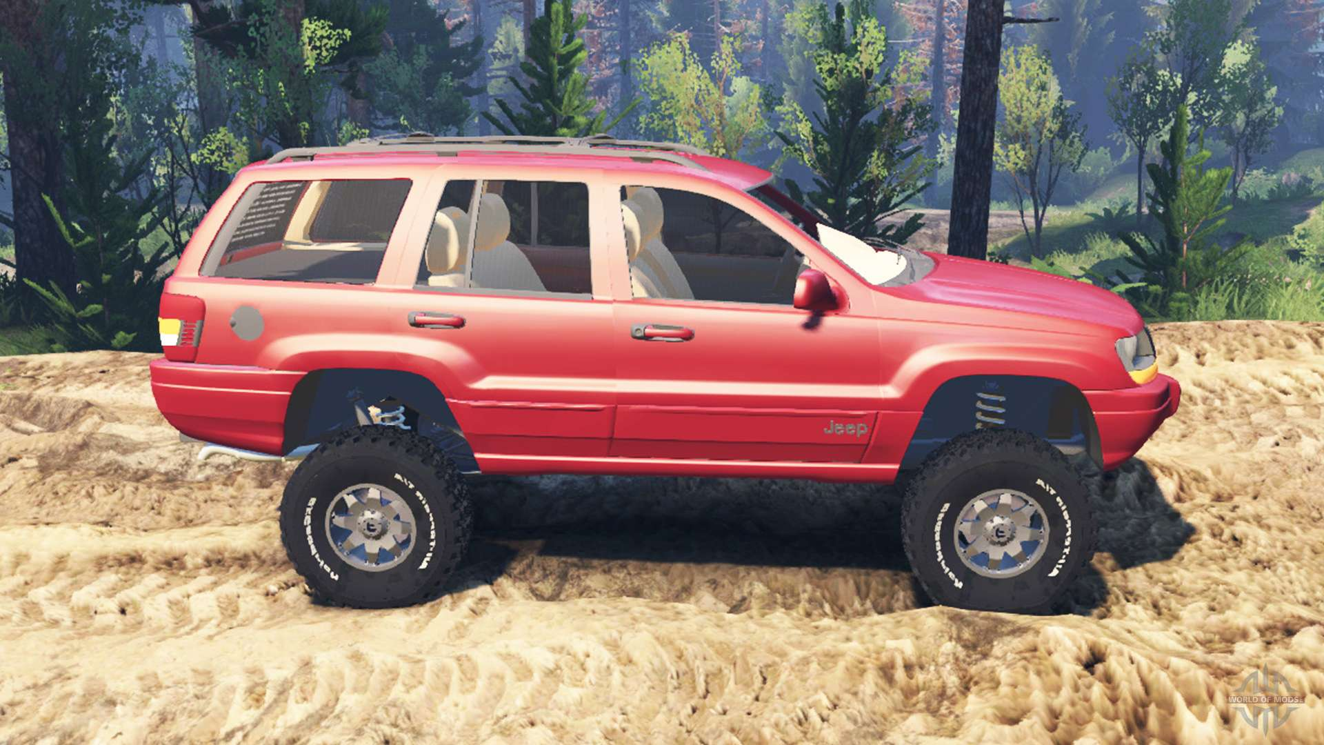 jeep grand cherokee wj v2 0 for spin tires. Black Bedroom Furniture Sets. Home Design Ideas