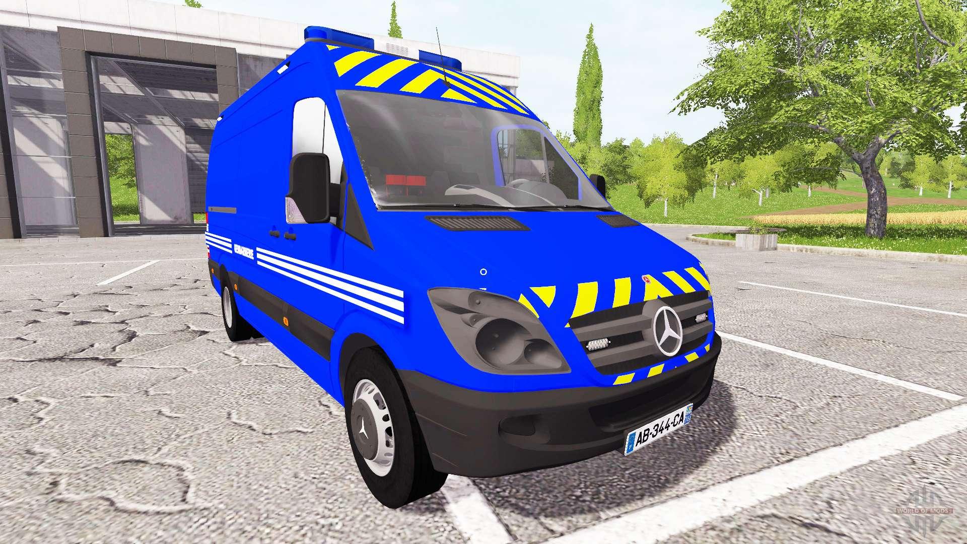 mercedes benz sprinter gendarmerie for farming simulator 2017. Black Bedroom Furniture Sets. Home Design Ideas