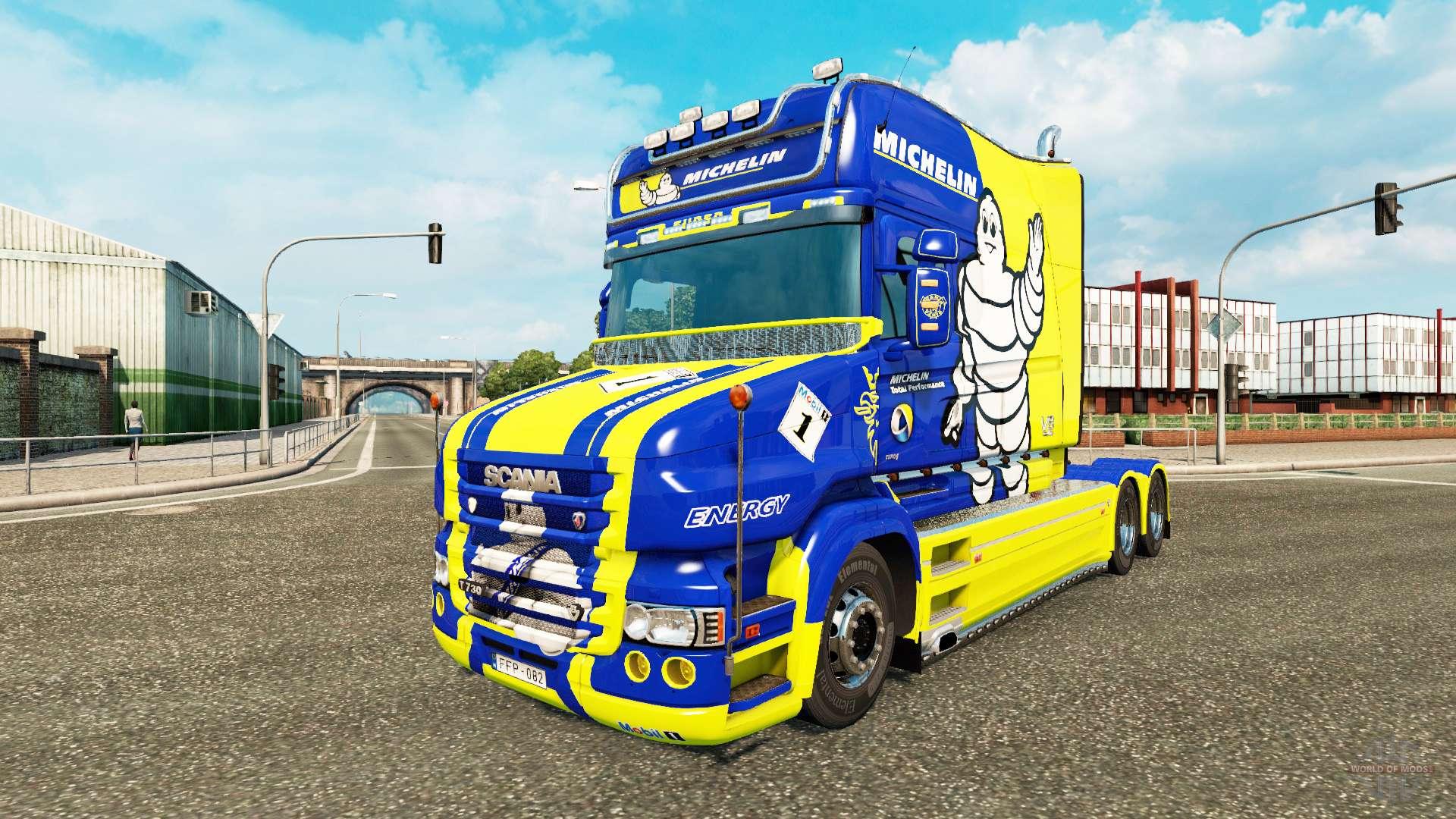 michelin skin for truck scania t for euro truck simulator 2. Black Bedroom Furniture Sets. Home Design Ideas