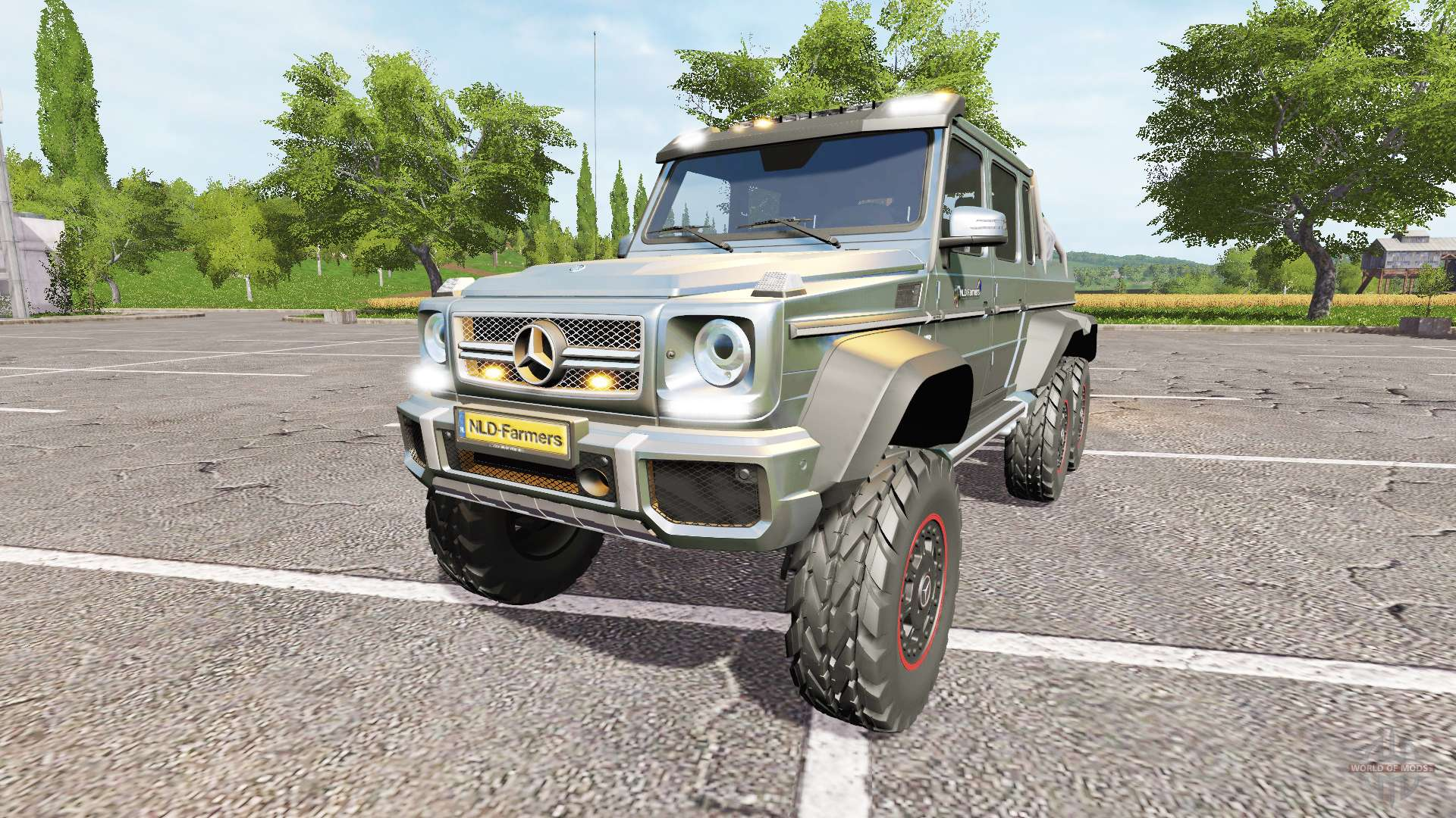Mercedes benz g65 amg 6x6 seed for farming simulator 2017 for Mercedes benz g65