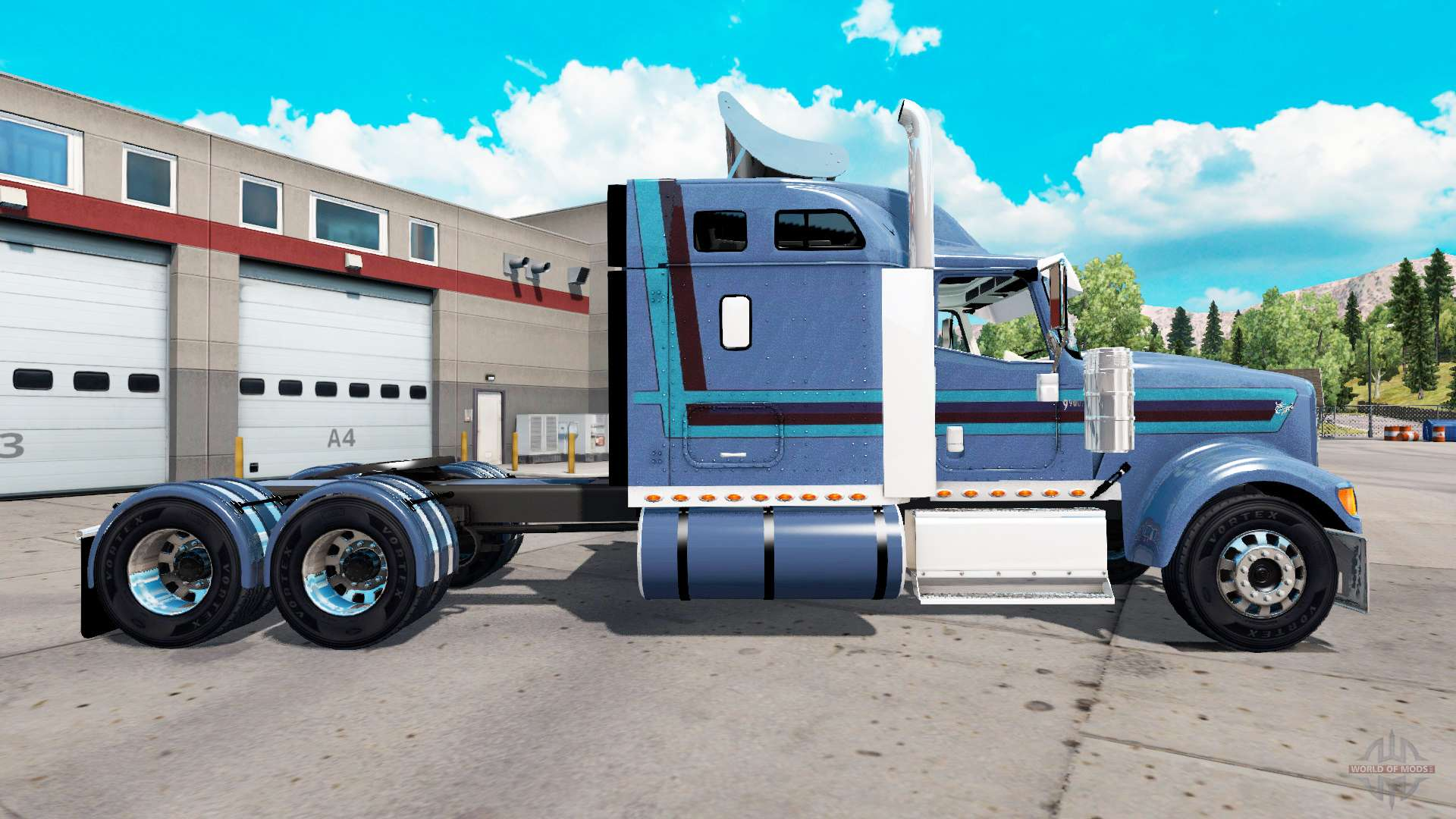 international eagle 9900i for american truck simulator rh worldofmods com International 9400 Eagle 1990 International Trucks 9900I Eagle Interior