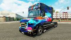 Neon skin for truck Scania T