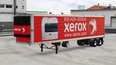 Skins brands of electronics on the trailer v2.0 for American Truck Simulator