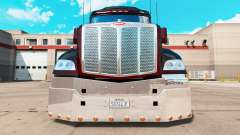 Chrome bumper for a Peterbilt 579 tractor
