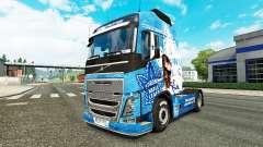 The Toronto Maple Leafs skin for Volvo truck for Euro Truck Simulator 2