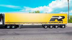 Four-axle semi-trailer